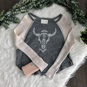 We The Free Bull Head Knit Sweater Top